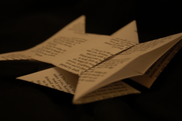 Origami and wedding vows
