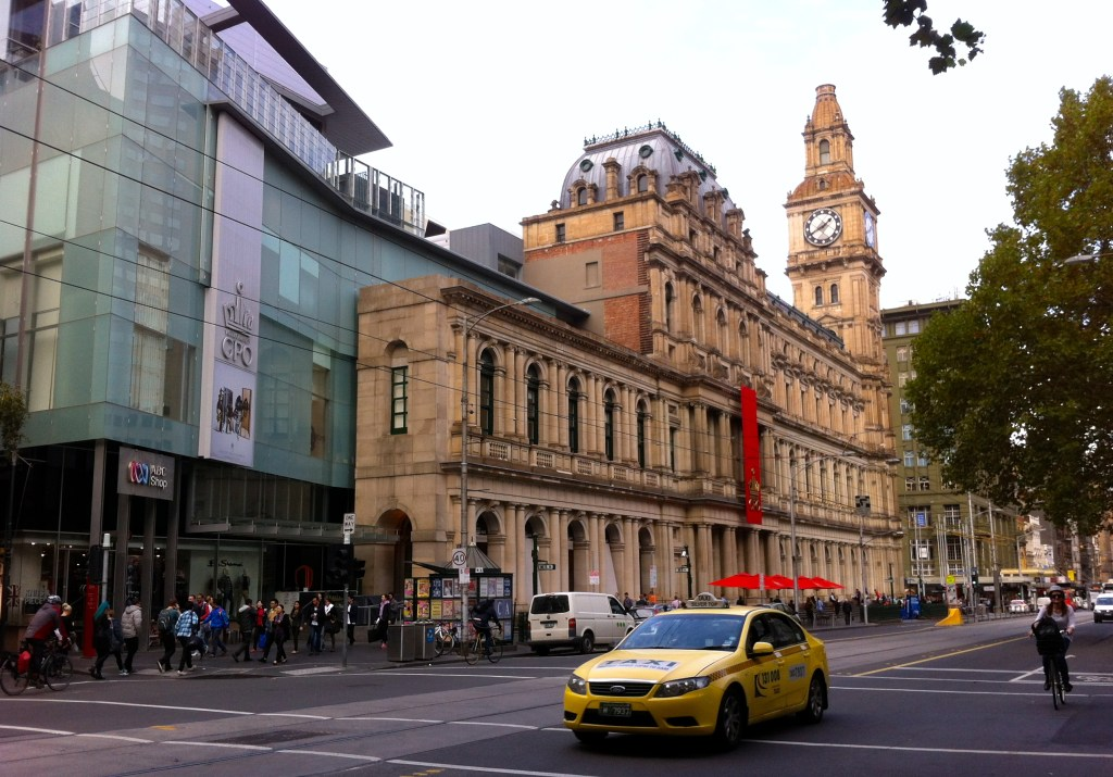 old sandstone GPO with modern glass updates