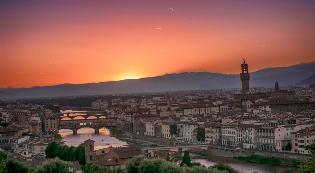 Piazzale Michelangelo - Sunset In Florence (Florence, Italy)
