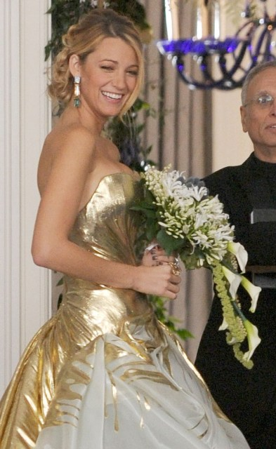 Blake Livelys Ugly Wedding Dress On Gossip Girl