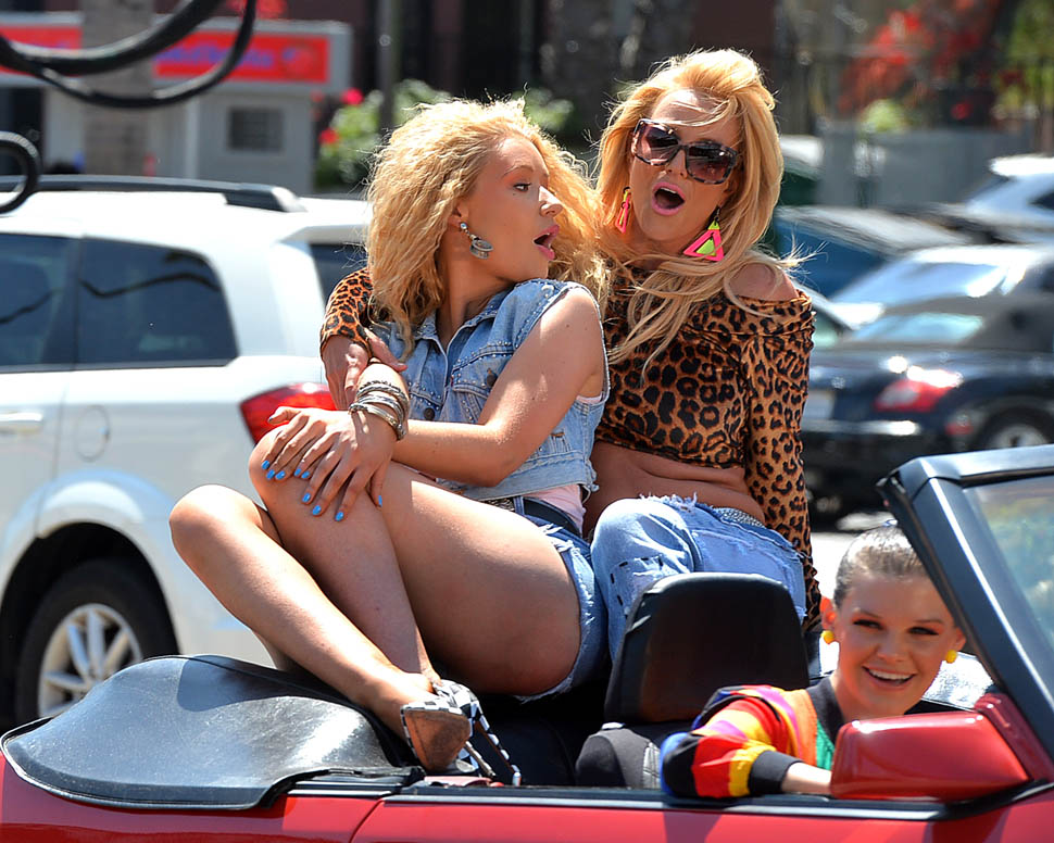 Britney Spears and Iggy Azalea shooting