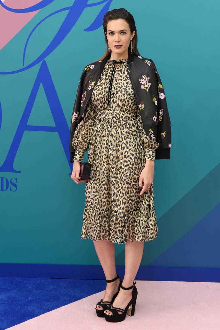 Mandy Moore In Animal Print And Flowers At CFDA Awards