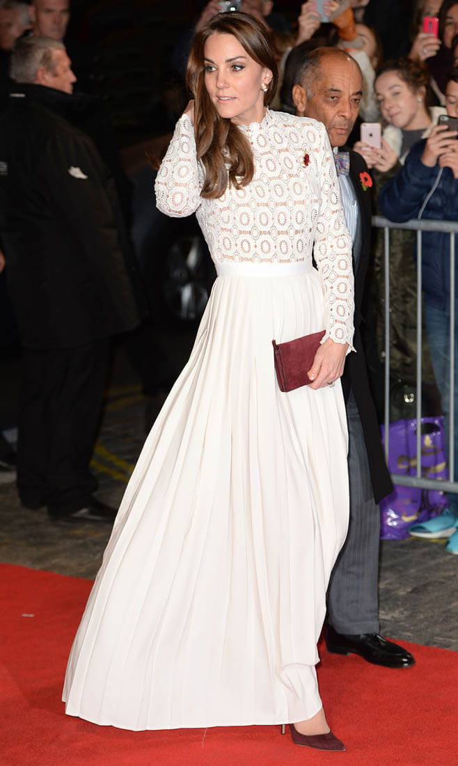 Princess Catherine In White At The London Screening Of A