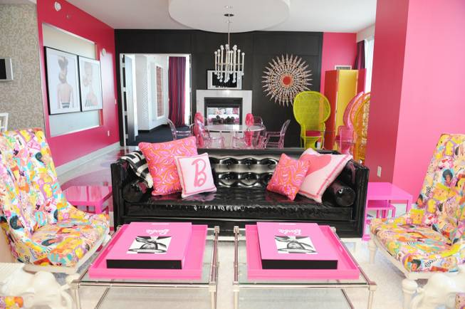 The Palms recently unveiled its latest theme room: a 2,350-square foot Barbie suite.  The suite comes as Barbie marks her 50th anniversary this year, and was developed in conjunction with the iconic doll's manufacturer, Mattel.
