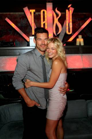 LeAnn Rimes celebrates her 28th birthday with Eddie Cibrian at Tabu in the MGM Grand on Sept. 4, 2010.