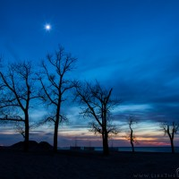 Moon Star & Sunset @ Indiana Dunes