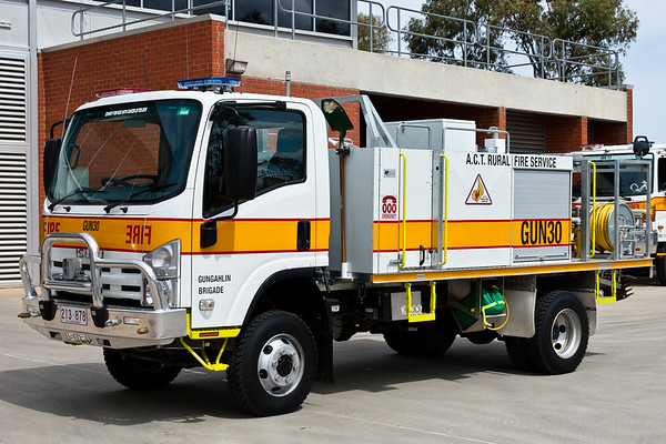 Tanker from Gungahlin Brigade in the ACT Rural Fire Service