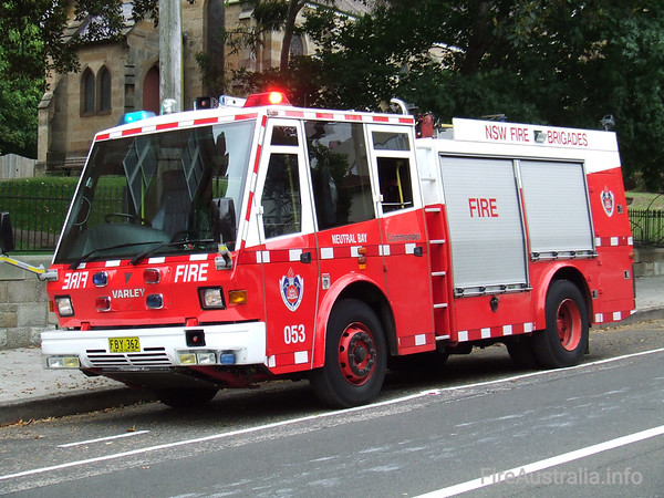 NSWFB P53 Neutral Bay PumperNSWFB P53 Neutral Bay Pumper, a Varley CommanderJanuary 2007