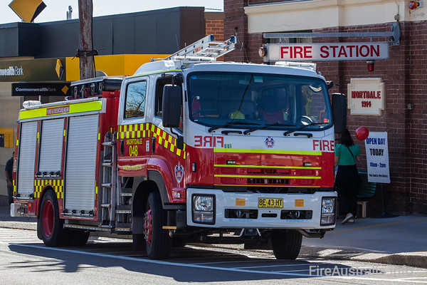 Isuzu Class 2 Pumper built by FRNSW by SEM Fire & Rescue in service as P48 Mortdale