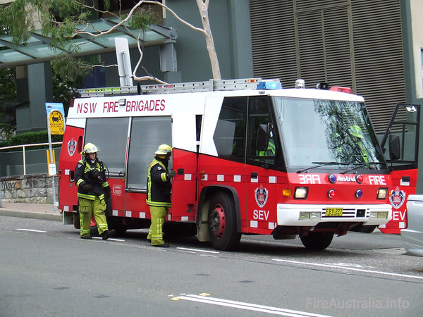 NSWFB SEV (Spare) PumperNSWFB SEV (Spare) Pumper, an Austral Firepac FBY227.Photo January 2007