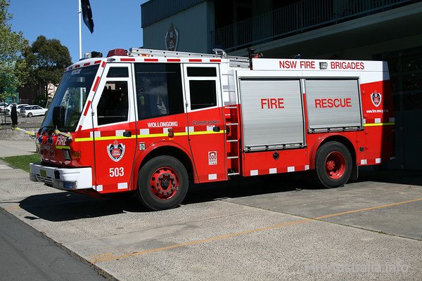 NSWFB SP503 Wollongong Super PumperPhoto September 2007