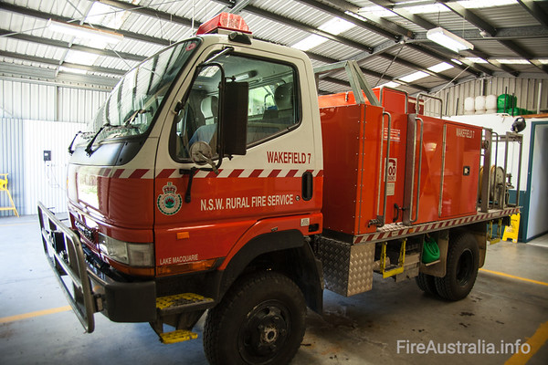 NSWRFS Wakefield 7 Tanker. Wakefield Brigade, Lake Macquarie District, The Lakes Zone. Built December 2008 by Alexander PerriePhoto December 2013