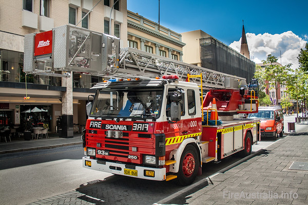 WA Fire & Rescue Spare Ladders.This appliance is the spare aerial for WA Fire & Rescue, replacing the Ladder Platforms at Perth or Fremantle when needed