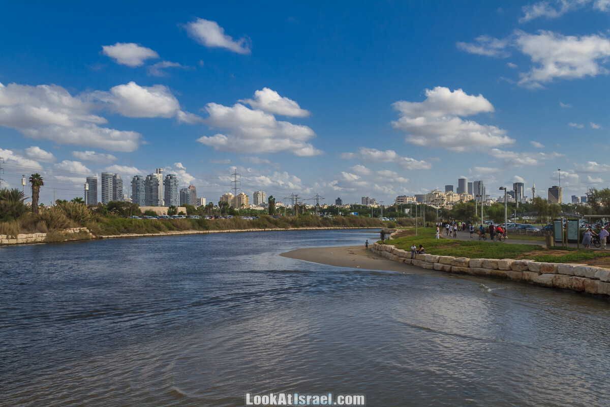 Тель Авив, парк и река Яркон