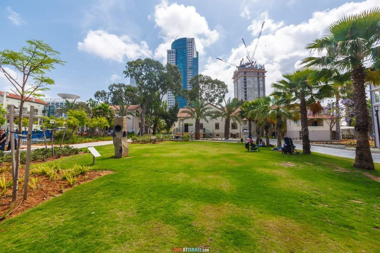 Квартал Сарона в Тель-Авиве. Строительство башни Азриели-Сарона