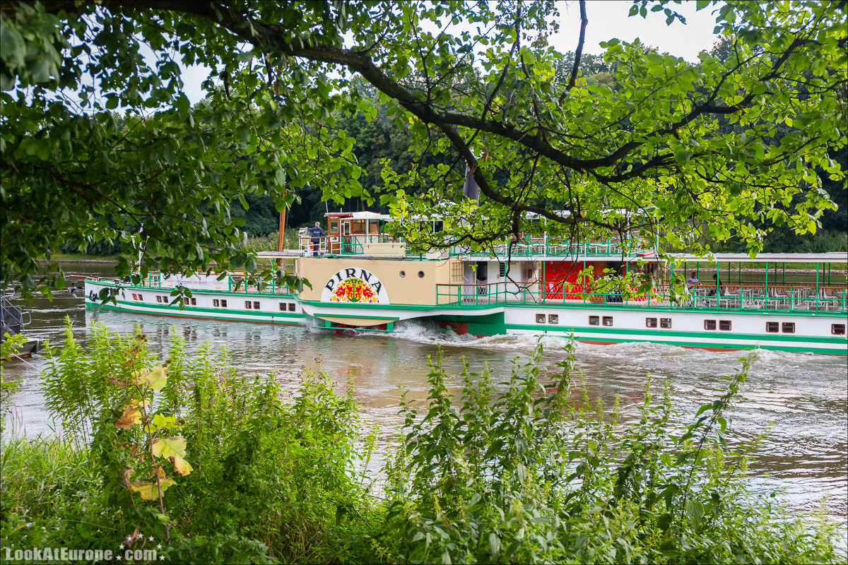 Прогулка на пароходе по Эльбе из Дрездена | LookAtEurope.com - Фотогалоп по Европе. Чехия, Германия, Голландия. Чески Крумлов