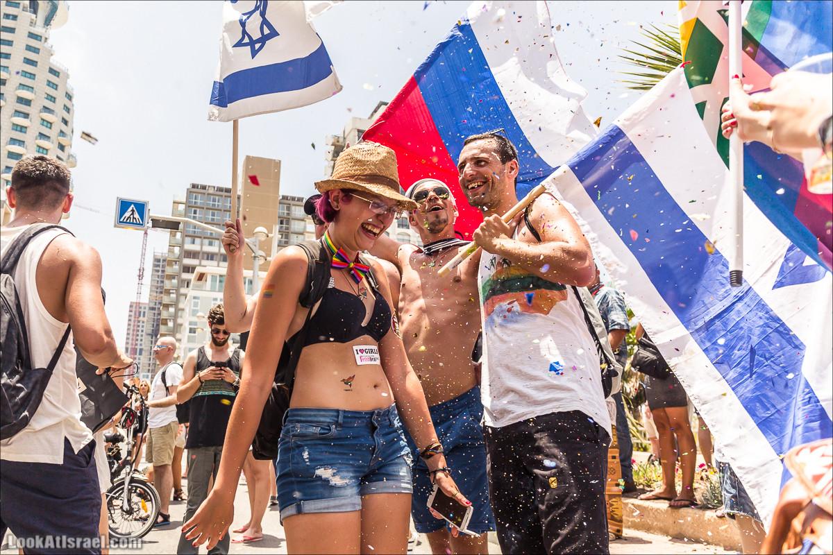 Тель-Авив в цветах радуги и любви