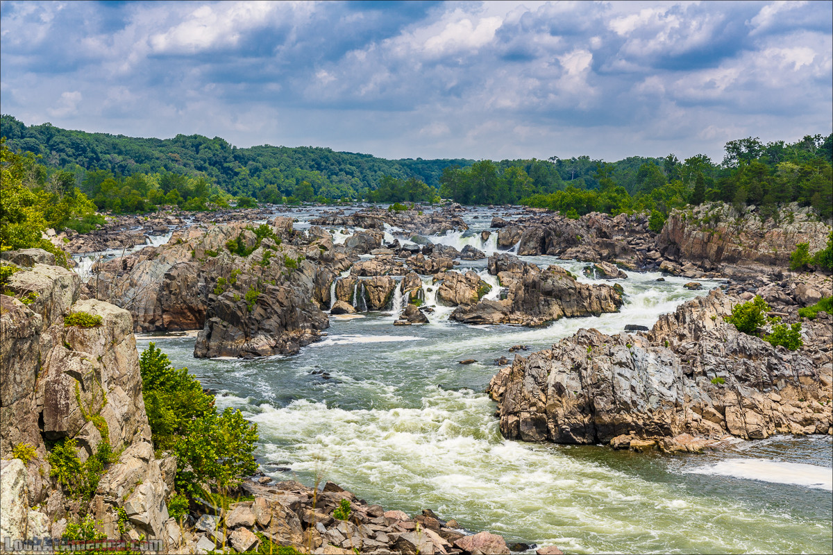 Водопады на реке Патомак. Национальный парк Грейт Фолс | Great Falls of Patowmack | LookAtAmerica.com - Большое Американское путешествие LookAtIsrael.com