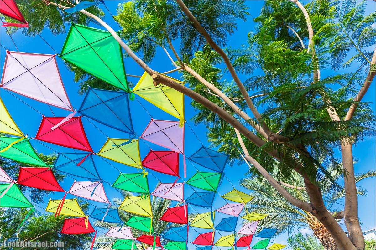 Бульвар Бен-Гурион в Тель-Авиве в тени воздушных змеев | LookAtIsrael.com - Фото путешествия по Израилю