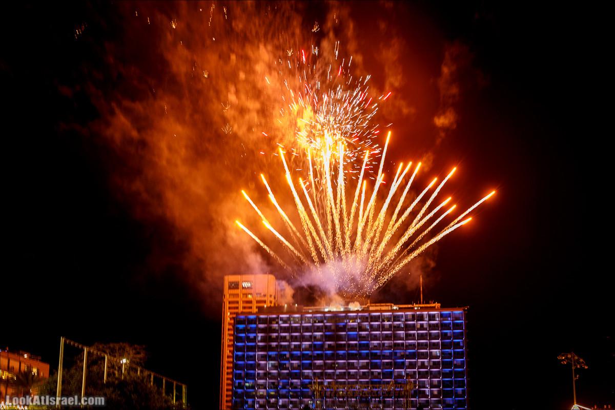 Праздничный салют в Тель-Авиве в честь 70-летия государства Израиль | Independence day 70 of Israel, fireworks | LookAtIsrael.com - Фото путешествия по Израилю