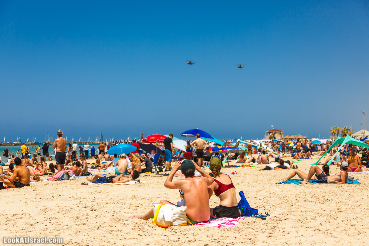 Праздничный парад ВВС и ВМФ в Тель-Авиве в честь 70-летия государства Израиль | Independence day 70 of Israel | LookAtIsrael.com - Фото путешествия по Израилю