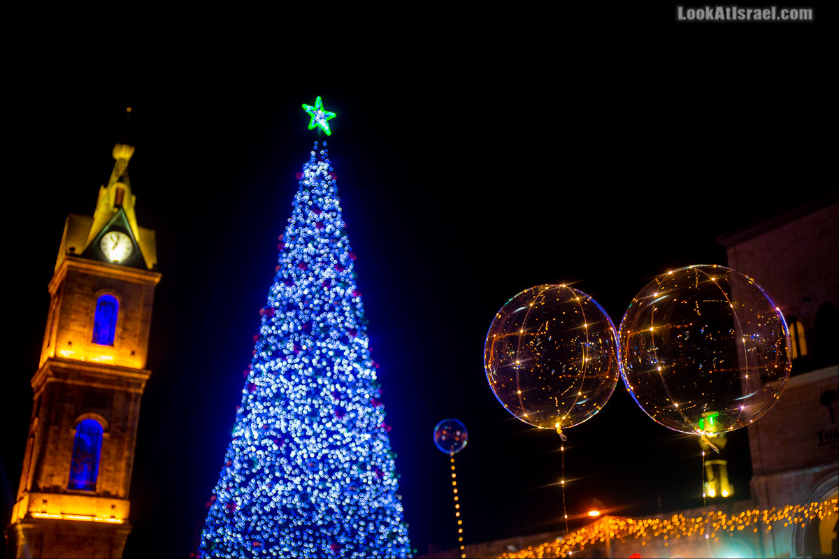 Рождественское зажжение ёлки 2019 в Яффо | LookAtIsrael.com - Фото путешествия по Израилю