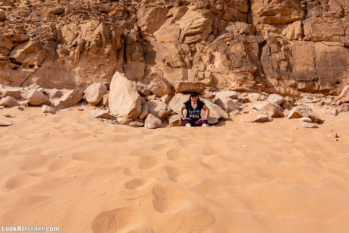 Интересные места в районе Эйлата - Дюна Элипаз, Исчезающее (скрытое) озеро, обзорная площадка Эврона, шахта, русла Соломона (Шломо) и Гишрон, вид на Синай   LookAtIsrael.com - Фото путешествия по Израилю