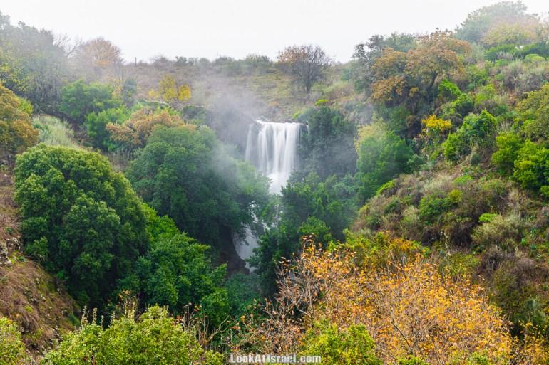 Голанские высоты - водопад Фара, гора Хермонит, Тель а-Саки   Fara waterfall, Hermonit mt, Tel a-Saqi   LookAtIsrael.com - Фото путешествия по Израилю