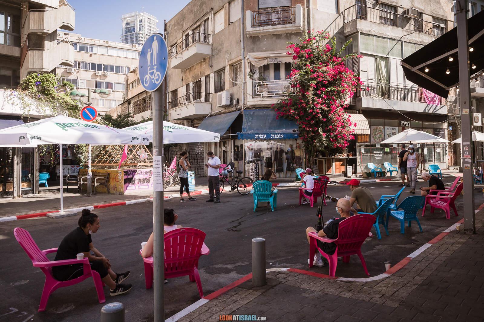 Тель-Авив, Рынок Левински во время карантина