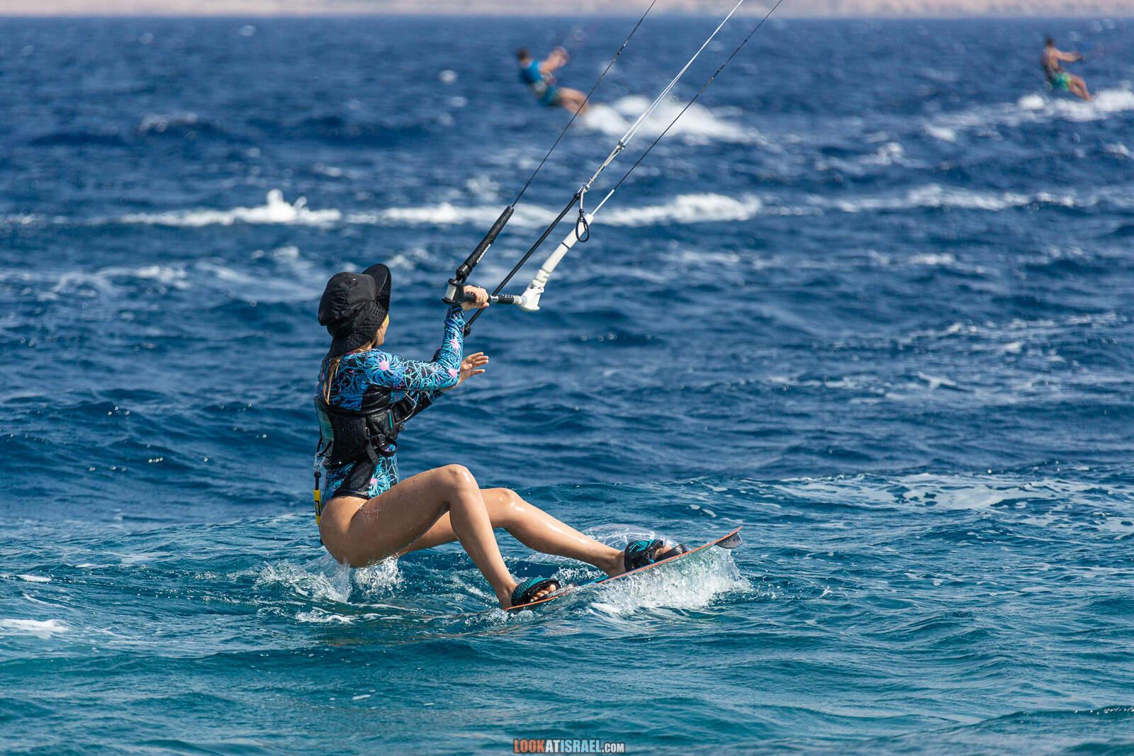 Кайтсерфинг на Красном море, Эйлат | Red sea kitesurfing, Eilat | LookAtIsrael.com - Фото путешествия по Израилю