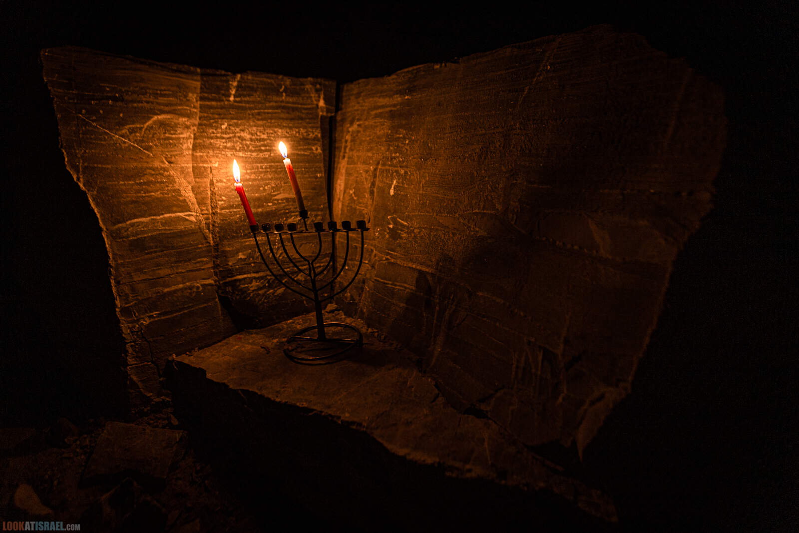 Ханукия в камне в Махтеш Рамон