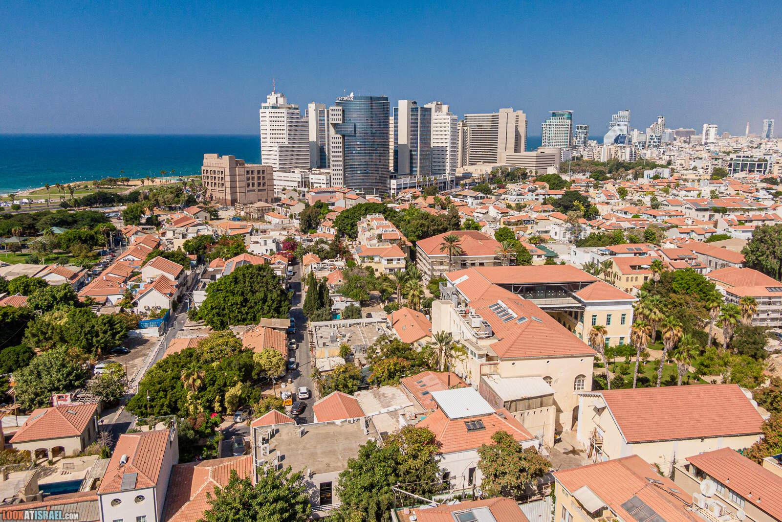 Неве Цедек и Флорнетин с высоты | LookAtIsrael.com - Фото путешествия по Израилю