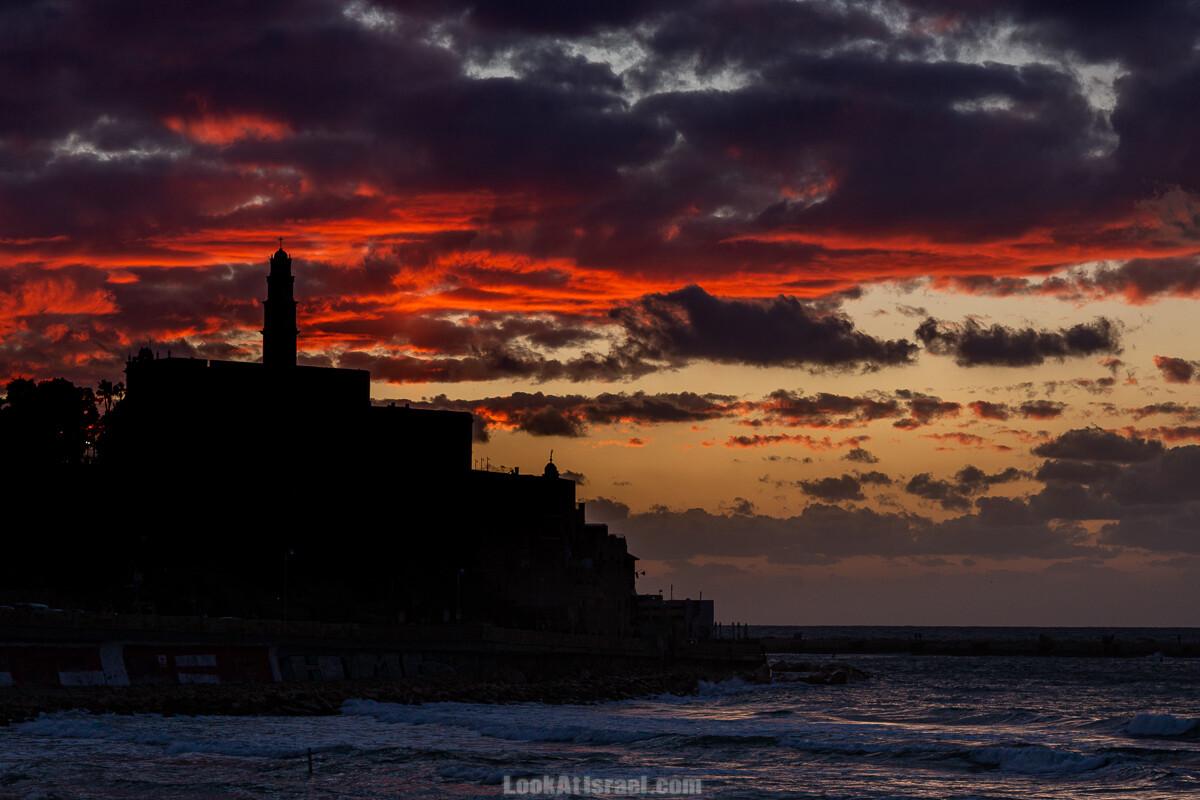 Закат над морем в Яффо   Jaffa sunset   LookAtIsrael.com - Фото путешествия по Израилю