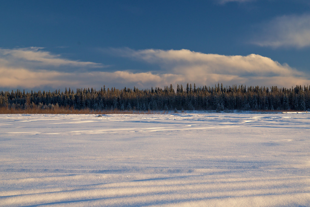Looking across the Tanana River from near the boat launch on Chena Pump Road.