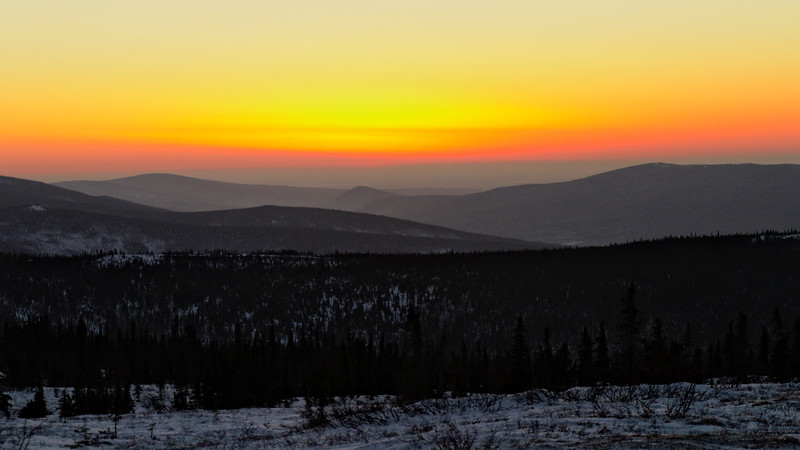 Sunset in The White Mountains