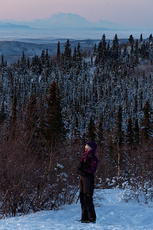 On the trails on Ester Dome for sunrise.