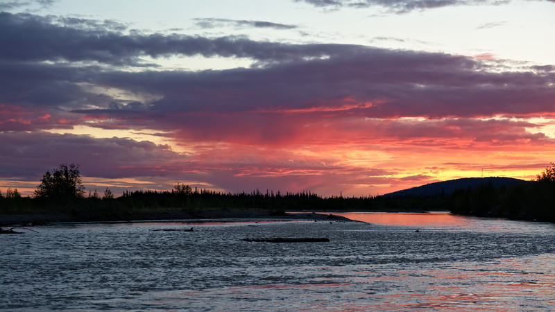 Sunset over the Tanana River. Near Salcha, Alaska.