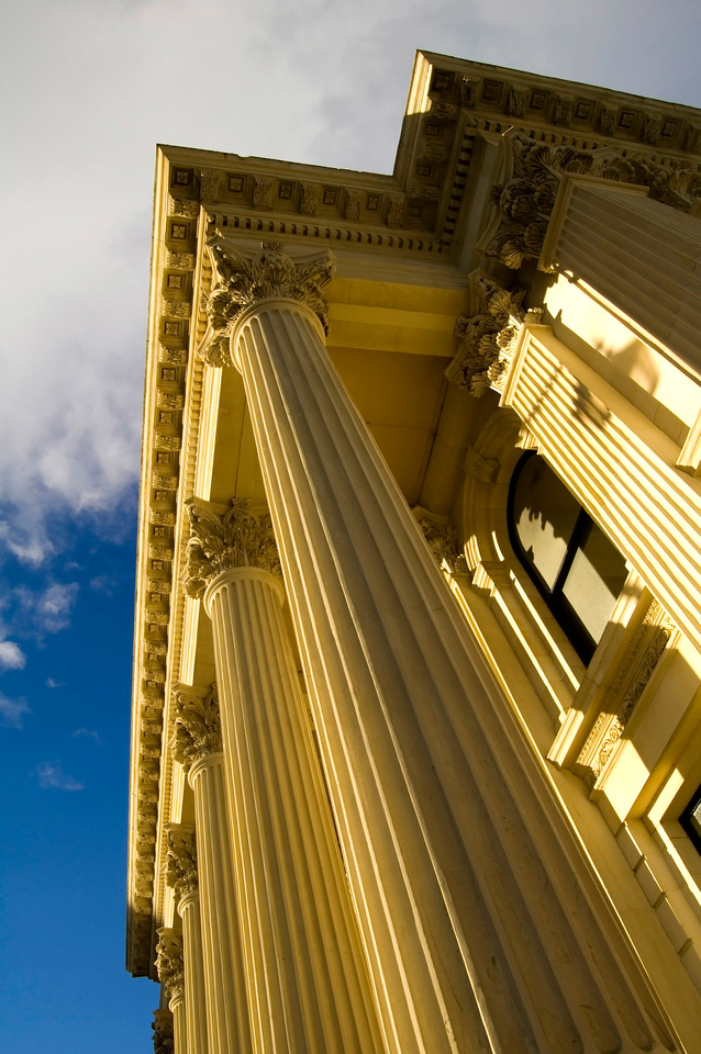 Building Images for Background:  Neoclassical and Greek Revival Architecture Stock Photos. This image shows Oamaru, New Zealand's National Bank Building, an example of Neoclassical Architecture.
