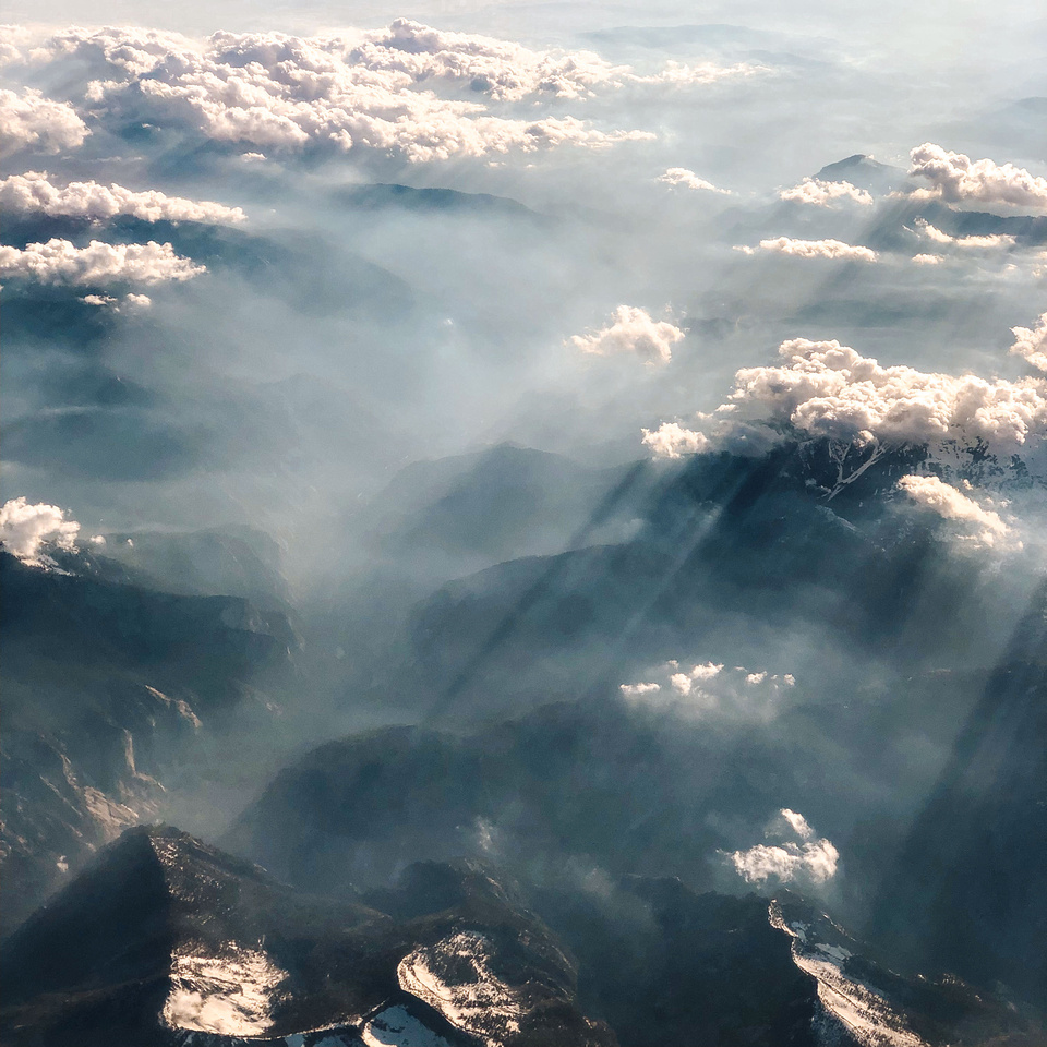 Creative Photography - Free Cloud Background Images. Clouds float over Yosemite National Park in Central California.