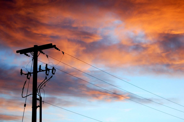 Sunset in Idaho, USA.