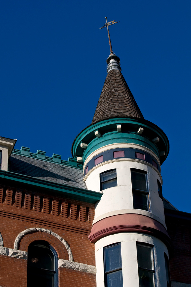 Building Wallpaper:  Victorian, Queen Anne, and French Château Architecture Stock Photos. The Boise, Idaho Idanha Building, an example of French Château Architecture.