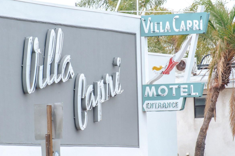 Hotel Photography: San Diego's Mid-Century Modern Villa Capri, a motel across from the famous Hotel Coronado.