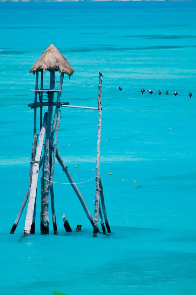Image Bank: Coastal Landscapes. A view into the Caribbean along the coast of Mexico's Yucatán Peninsula, near Isla Mujeres and Cancun.