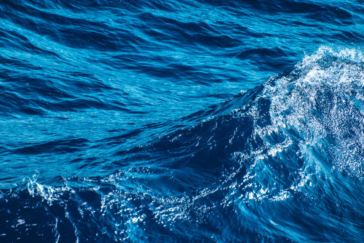 Website Background Images. Waves build in the Ionian Sea off the coast of Greece.