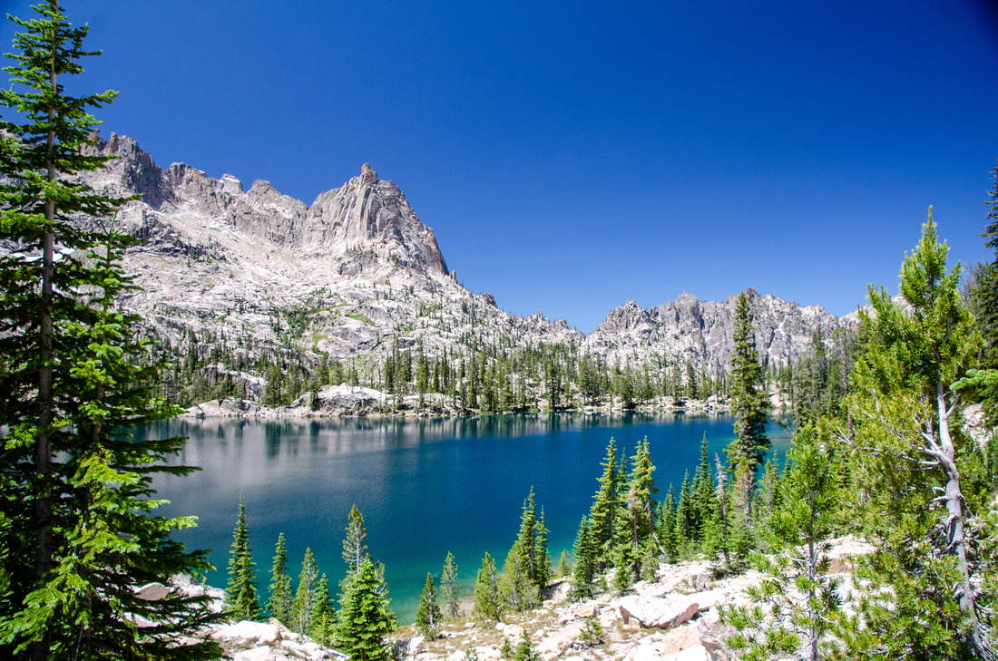 Best Baron Lakes Idaho Hikes - Grandjean Campground and Trailhead to Redfish Lake.  The trail between Baron Lake and Upper Baron Lake climbs a series of switchbacks before approaching the upper lake.