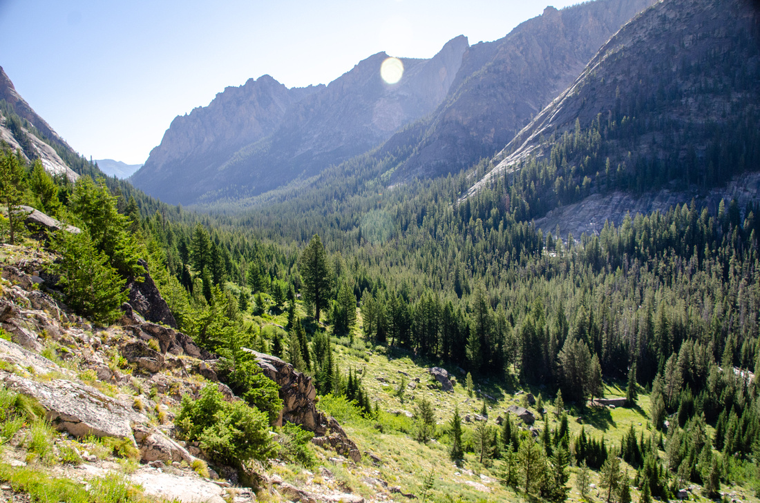 Best Baron Lakes Idaho Hikes - Grandjean Campground and Trailhead to Redfish Lake. A view of an ancient glacial valley that leads from the Alpine Lake drainage to Redfish Lake.