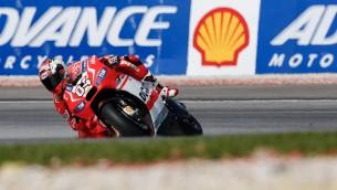 Ducati Sepang race reacton