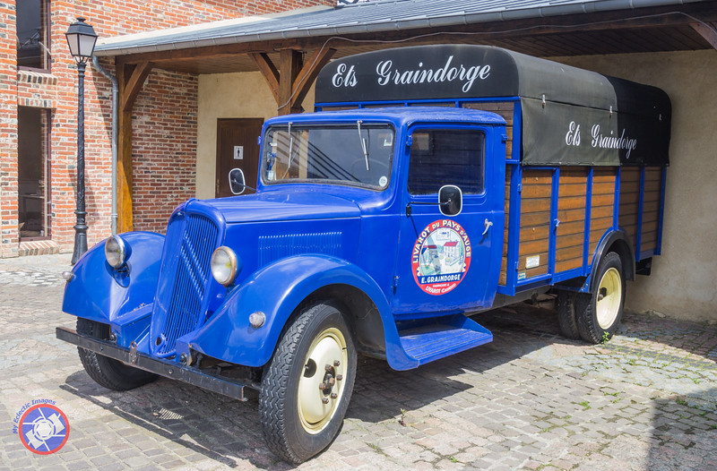 Antique Truck Outside the Cheese Factory in Livarot (©simon@myeclecticimages.com)