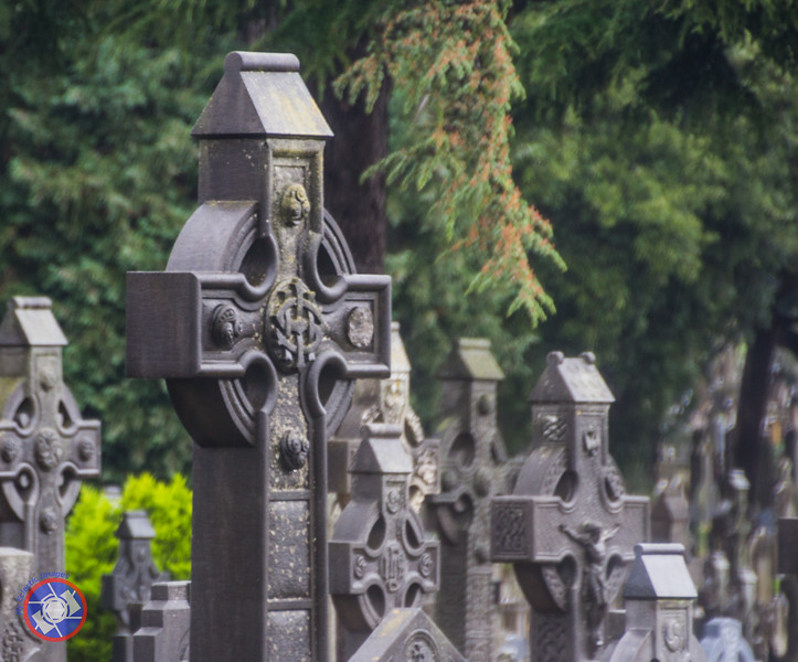 Celtic Crosses in Glasnevin Cemetery (©simon@myeclecticimages.com)