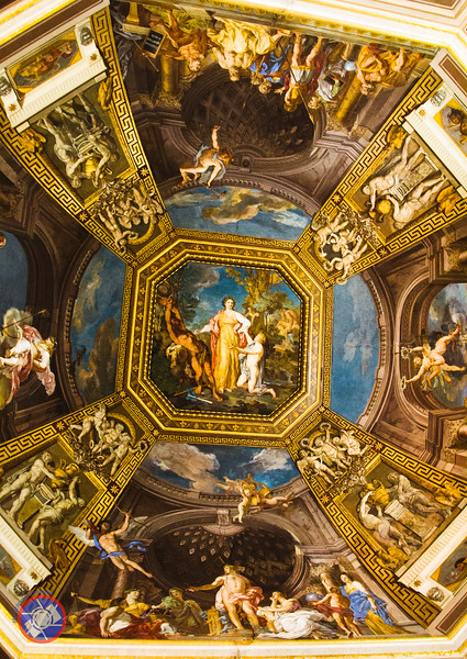Looking Up at One of the Magnificently Painted Ceilings (©simon@myeclecticimages.com)